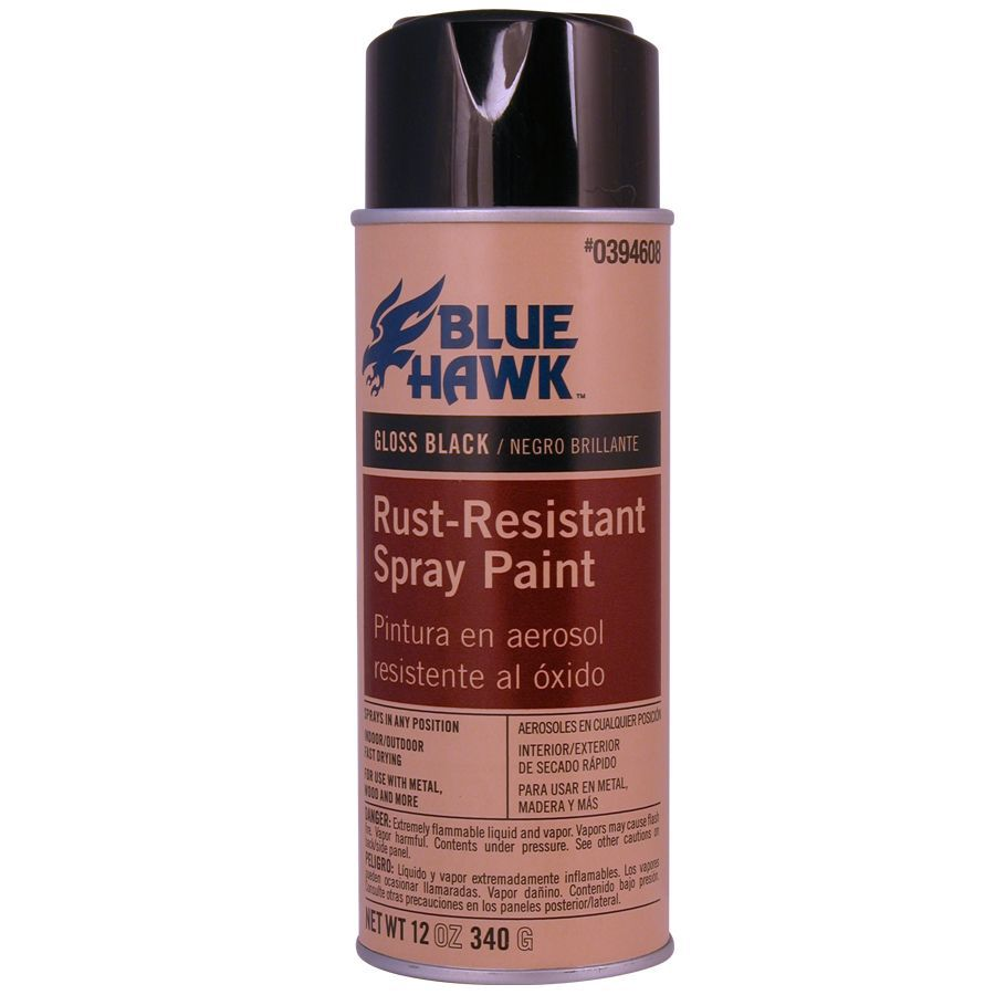 Shop Blue Hawk 12 Oz Black Gloss Spray Paint At
