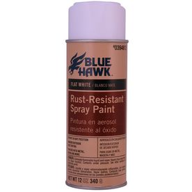 Blue Hawk 12 Oz. White Flat Spray Paint
