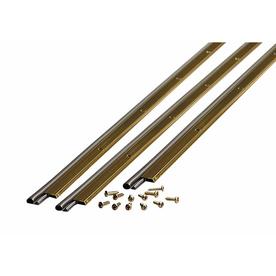 M-D Building Products 0.875-in x 7-ft Brite Gold Aluminum and Vinyl Door Weatherstrip