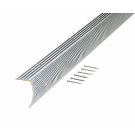 "M-D Building Products 72""L Silver Stair Edging"