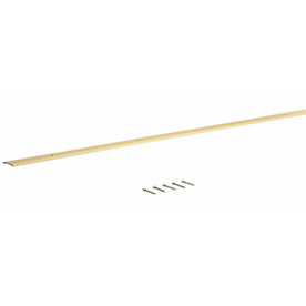 M-D Building Products 72-in L x 1-1/4-in W Fluted Brass Carpet Edging Trim