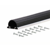 M-D Building Products 1-5/8-in x 18-ft Black Aluminum and Rubber Garage Weatherstrip