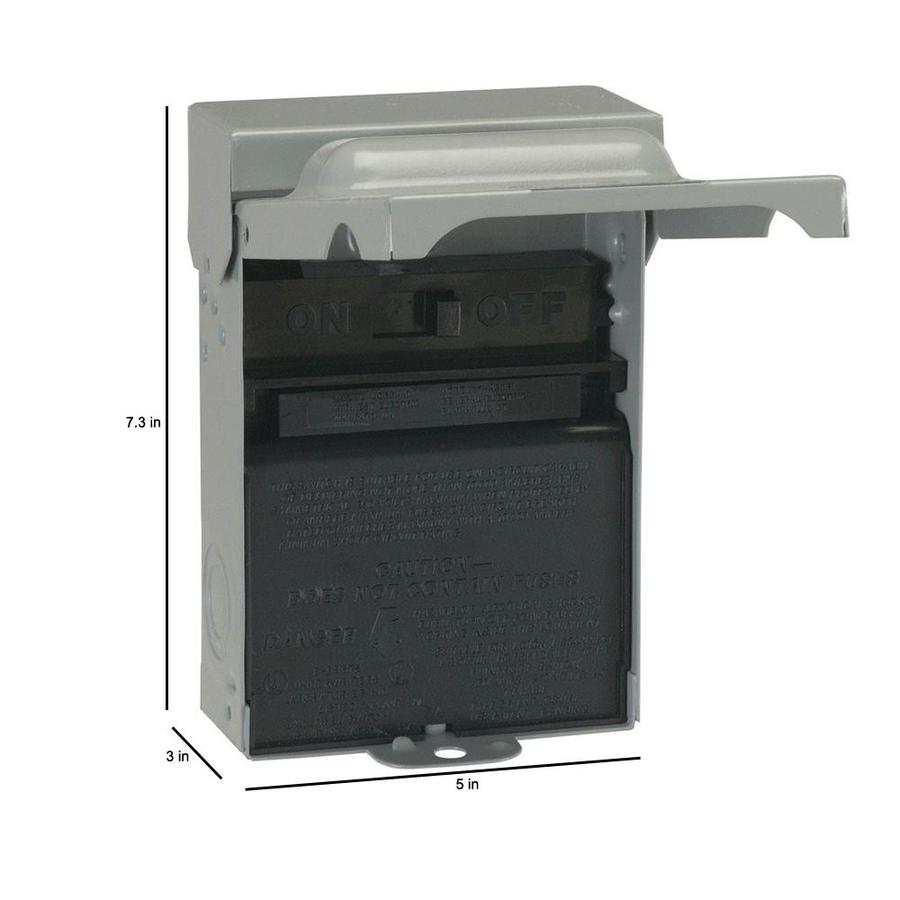 GE 60-Amp Non-Fusible Enclosed Molded Case Switch Disconnect in the Electrical  Disconnects department at Lowes.com   Ge Tfn60rcp Ac Disconnect Wiring Diagram      Lowe's