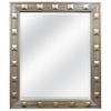 allen + roth 32-in x 37.6-in Champagne Beveled Rectangle Framed Traditional Wall Mirror