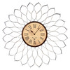 MCS Industries 24-in Dahlia Bronze Clock