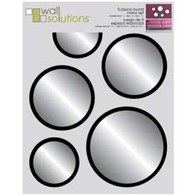 MCS Industries Black Round Framed Wall Mirror