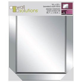 MCS Industries 18-in x 22-in Wall Mirrored Glass Rectangular Framed Wall Mirror 49719