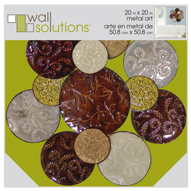 MCS Industries 20.5-in W x 20.5-in H Abstract Metal Wall Art