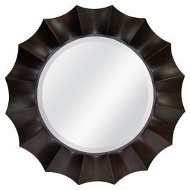 allen + roth 29.875-in x 29.875-in Oil Rubbed Bronze Round Framed Mirror