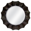 allen + roth 28.75-in x 30-in Oil-Rubbed Bronze Round Framed Wall Mirror