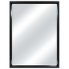 MCS Industries 18.25-in x 24.25-in Black Rectangular Framed Mirror