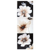 MCS Industries 12.25-in W x 36.5-in H Black and White Floral Design Canvas Wall Art