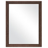 MCS Industries 21.25-in x 27.25-in Textured Bronze Rectangular Framed Mirror
