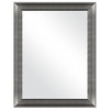MCS Industries 21.25-in x 27.25-in Brushed Nickel Rectangular Framed Mirror