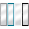 Style Selections 15.25-in x 54-in Black, White, Pink, Green Rectangle Framed Wall Mirror