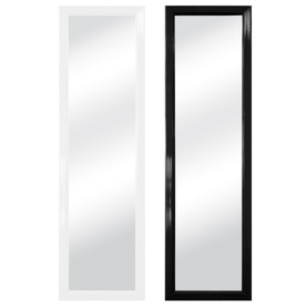 Style Selections 15-in x 51-in Black and White Polished Rectangle Framed French Wall Mirror