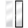 Style Selections 15.25-in x 54-in Black and White Rectangle Framed Wall Mirror