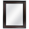 Style Selections 30-in x 36-in Coppered Bronze Rectangle Framed Wall Mirror