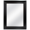 Style Selections 48-in x 38-in Espresso Rectangle Framed Wall Mirror