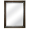 Style Selections 26.25-in x 33.5-in Espresso Rectangle Framed Wall Mirror