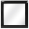 16-in x 16-in Black Square Framed Mirror