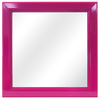 16-in x 16-in Raspberry Wine Square Framed Mirror
