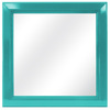 Turquoise Cove Square Framed Wall Mirror