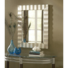 allen + roth 30-in x 36-in Silver Leaf Beveled Rectangle Framed French Wall Mirror