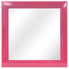 Style Selections 16.25-in x 16.25-in Pink Square Framed Mirror