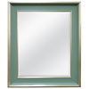 MCS Industries 29.75-in x 35.75-in Cottage Blue Rectangular Framed Mirror