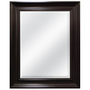 Style Selections 27.5-in x 21.5-in Espresso Rectangle Framed Wall Mirror