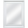 Style Selections 27.5-in x 21.5-in White Rectangle Framed Wall Mirror