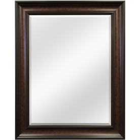 Style Selections Coppered Bronze Rectangle Framed Wall Mirror