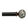 allen + roth 36-in to 72-in Specialty Bronze Metal Single Curtain Rod