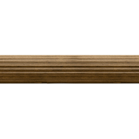 Shop Allen Roth Tobacco Wood Single Curtain Rod At
