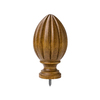 allen + roth 2-Pack Tobacco Wood Curtain Rod Finials