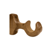 allen + roth 2-Pack Tobacco Wood Single Curtain Rod Bracket