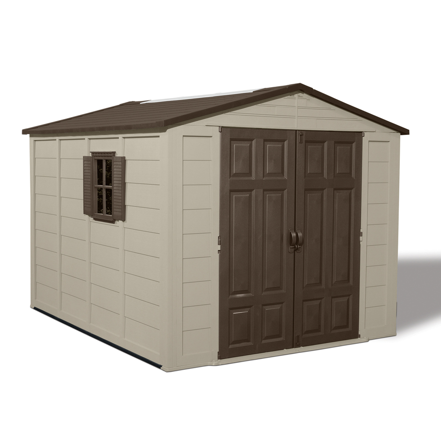 Shop suncast gable storage shed common 8 ft x 10 ft for Garden shed 10x10