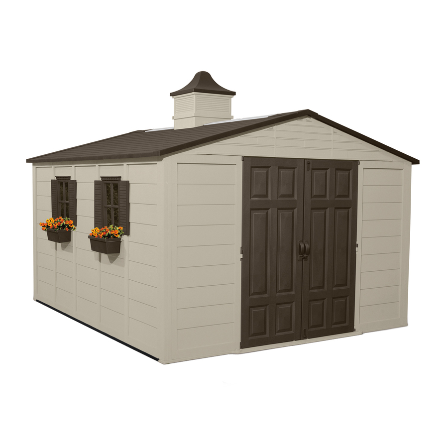 Shop Suncast Gable Storage Shed Common 10 Ft X 12 Ft