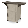 Suncast 34-in x 22-in Tan/Java Resin Square Serving Caddy