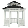 Suncast 135-in x 135-in x 11.08-ft White Resin Gazebo