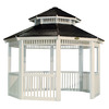 Suncast 159-in x 159-in x 11.54-ft White Resin Gazebo