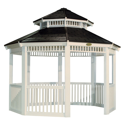 Backyard Canopy Lowes : Round Outdoor Suncast Gazebo from Lowes Gazebos Structures