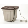 Suncast 50-Gallon Taupe Plastic Rain Barrel with Diverter