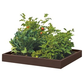 Suncast 46-in L x 46-in W x 5.5-in H Resin Raised Garden Bed
