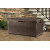 Suncast 29-in L x 52-in W 122-Gallon Java Brown Resin Deck Box