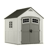 Suncast Cascade Gable Storage Shed (Common: 7-ft x 7-ft; Actual Interior Dimensions: 6.7-ft x 6.7-ft)