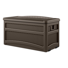 Suncast 46-in L x 23.5-in W 73-Gallon Java Brown Resin Deck Box