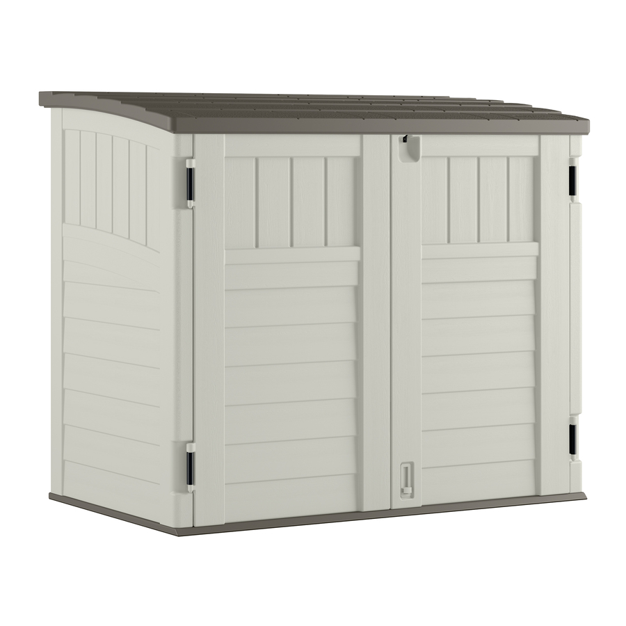Shop Suncast Vanilla Resin Outdoor Storage Shed (Common: 53-in x 32.25