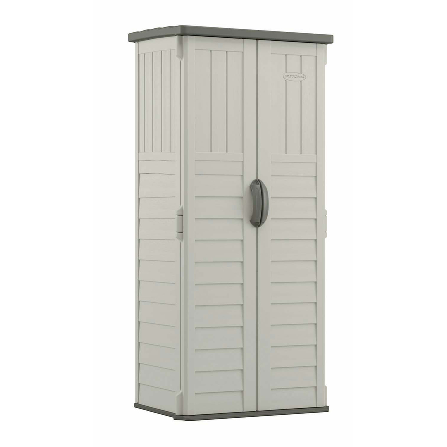Vanilla resin outdoor storage shed 2x4
